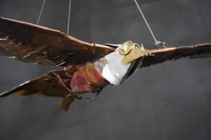 Kite metal sculpture