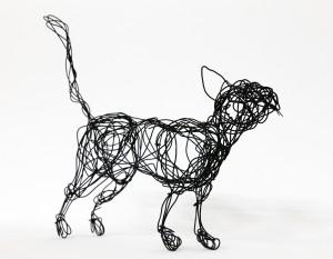 Cat wire sculpture
