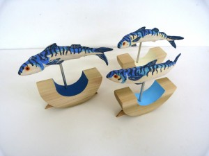Mackerel sculptures