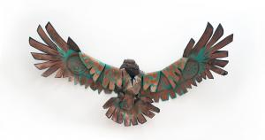 Hawk metal sculpture James Ort