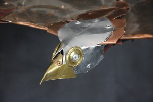 Metal steampunk kite beak