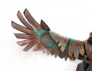 James Ort Hawk metal wing