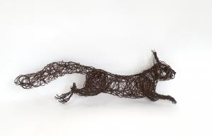 Squirrel wire sculpture James Ort